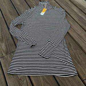 C&C California NWT black & white stripe turtleneck
